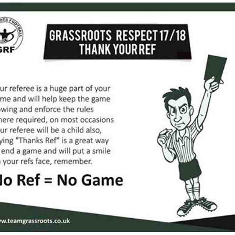 Respect - Referee Thanks