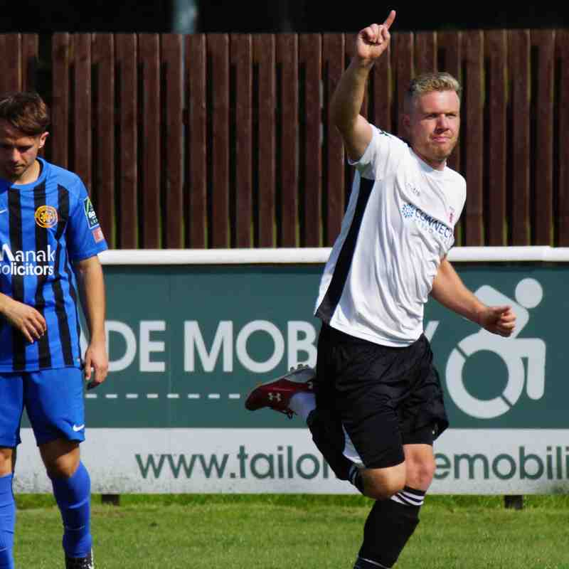 Harry Goodger celebrates his goal