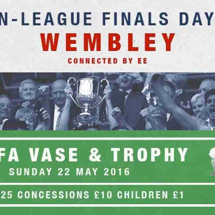 NON LEAGUE FINALS DAY - Sunday 22 May