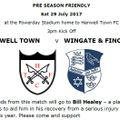 PreSeason Match v Wingate & Finchley 29 July 2017