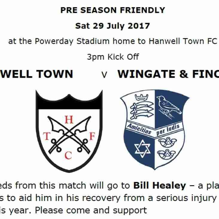 PreSeason Match v Wingate & Finchley 29 July 2017