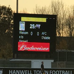 Hanwell Town 0 AFC Dunstable 2