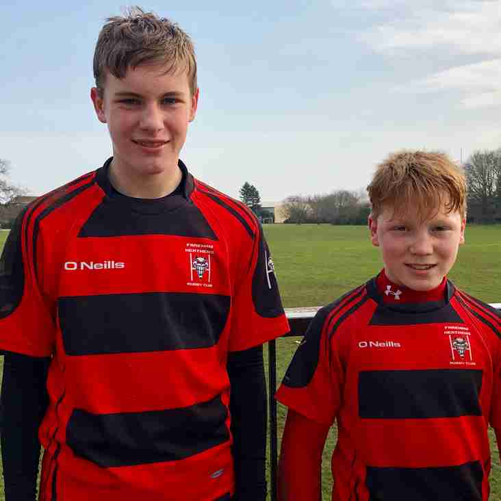 Congratulations to U13 players selected for London Irish DPP