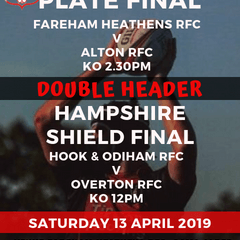 Double Header - Hampshire Plate and Shield Finals to be held at Fareham Heathens