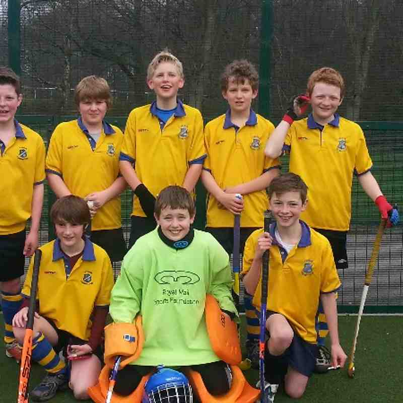 U12 Boys A Team comprising Tim Durkin, Ben Hall, Tom Hall (GK), Edward Hildreth, Henry Houseman, Archie Lawson, Flyn Mullins and Sam Nichol.
