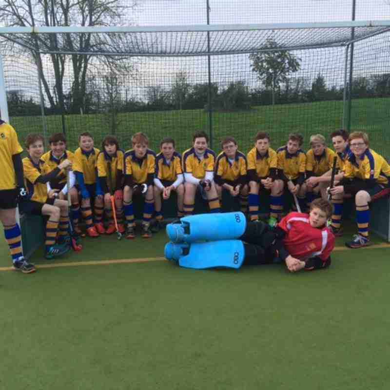 U14 Boys EHB Cup team: Left to right: Will, Alex, Michael, Guy, Sam, Jonathan, Hugo, Tom, George, Sean,