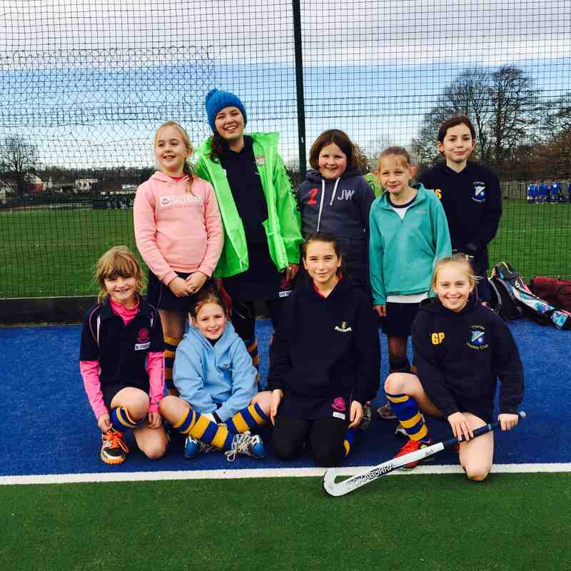U12 C team: L to R Standing:  Georgina Tribe, Eve Roberts, Molly Worth, Poppy Lawson, Alice Simmerson