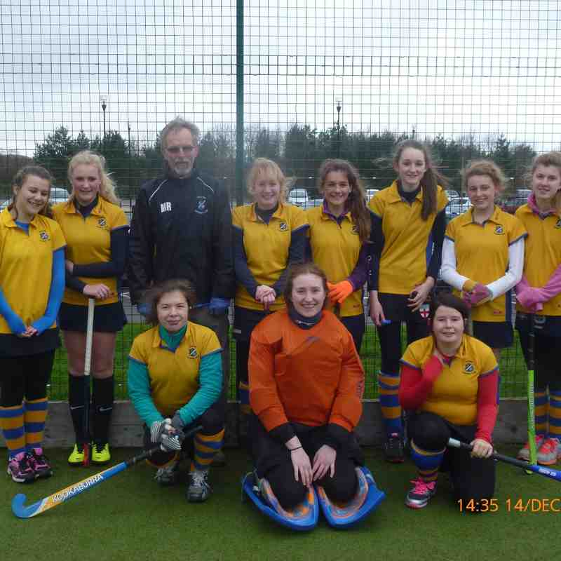 U16 girls B team. Leigh-Ann Beckett, Molly Carter, The coach!, Summer Marshall, Millie Siminacz, Amelia Crouch, Hannah-Olivia Foster, Catherine Ball.