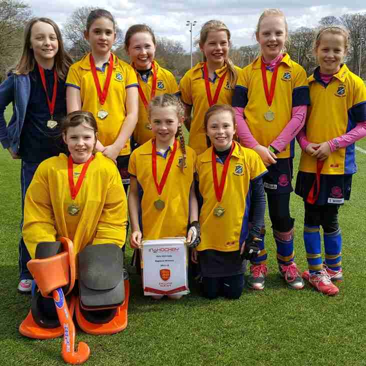 U10 girls bring home the gold.