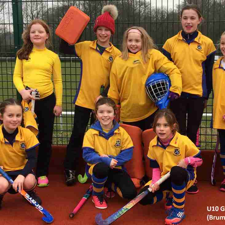 Under 10 girls A and B teams report.