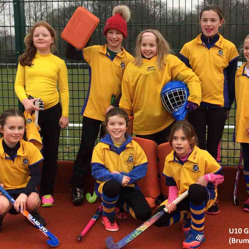 U10 Girls B team Jan 2017.