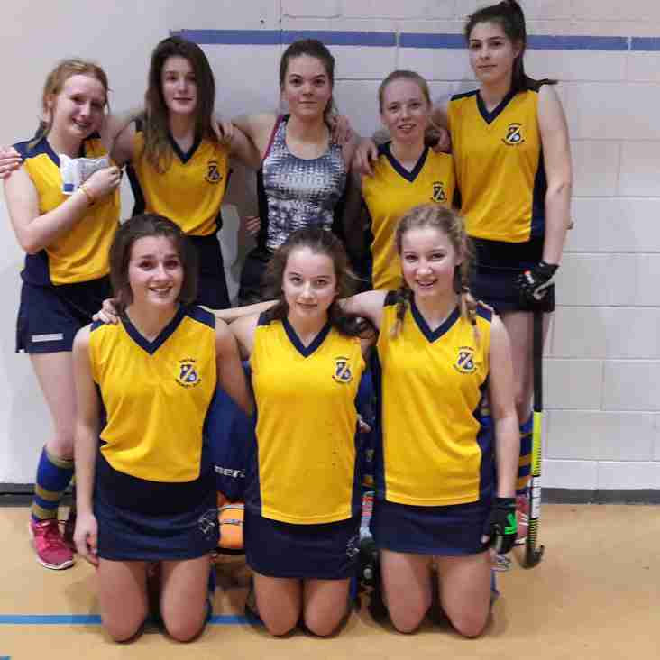 Thirsk U16 Girls at the National Indoor Hockey North Round.