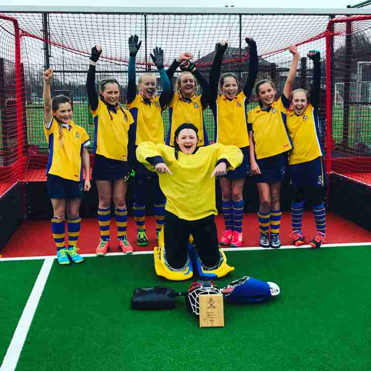 Thirsk U12 Girls Clubs In2Hockey Yorkshire Cup Winners!