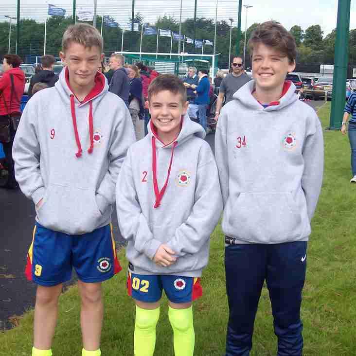 Thirsk U13 boys at NE Championships.