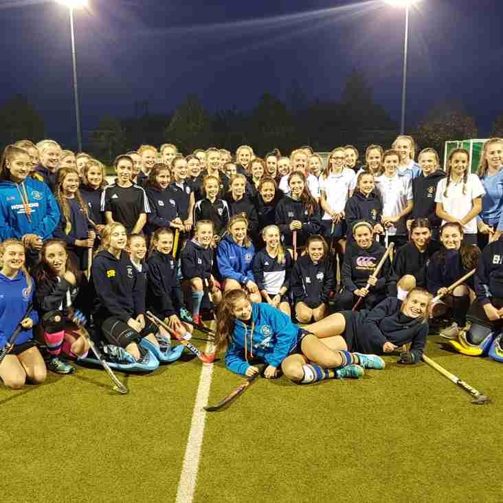 U14 & U16 girls have an evening with Ellie Watton.