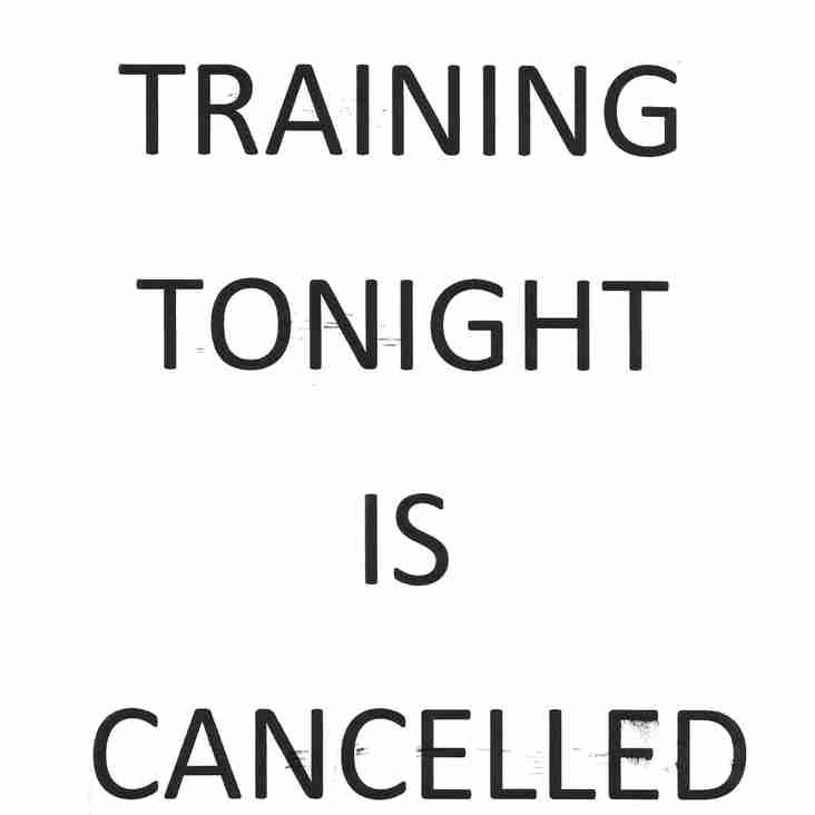 Hockey Cancelled Tonight 15.12.17