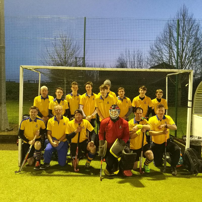 Thirsk men's 3rds at home against Scarborough 2nds.