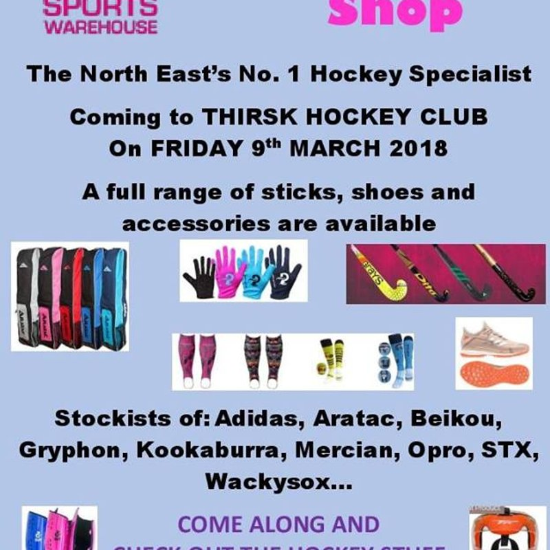 Hockey Kit Supplier coming to Thirsk.
