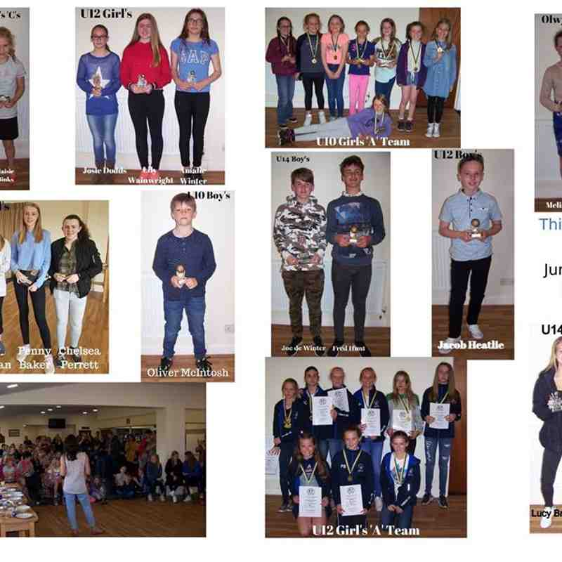 Junior award winners 2017/18