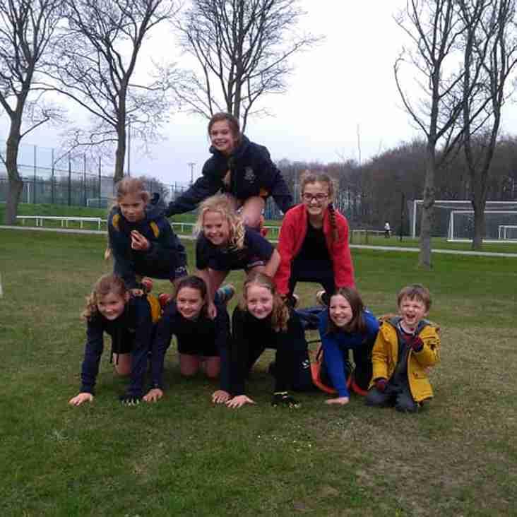 U10 girls in Northern In2Hockey finals.