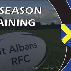 Pre Season Training Starts ALL WELCOME!