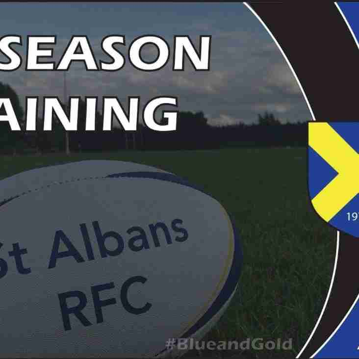 Pre Season Training Starts ALL WELCOME!