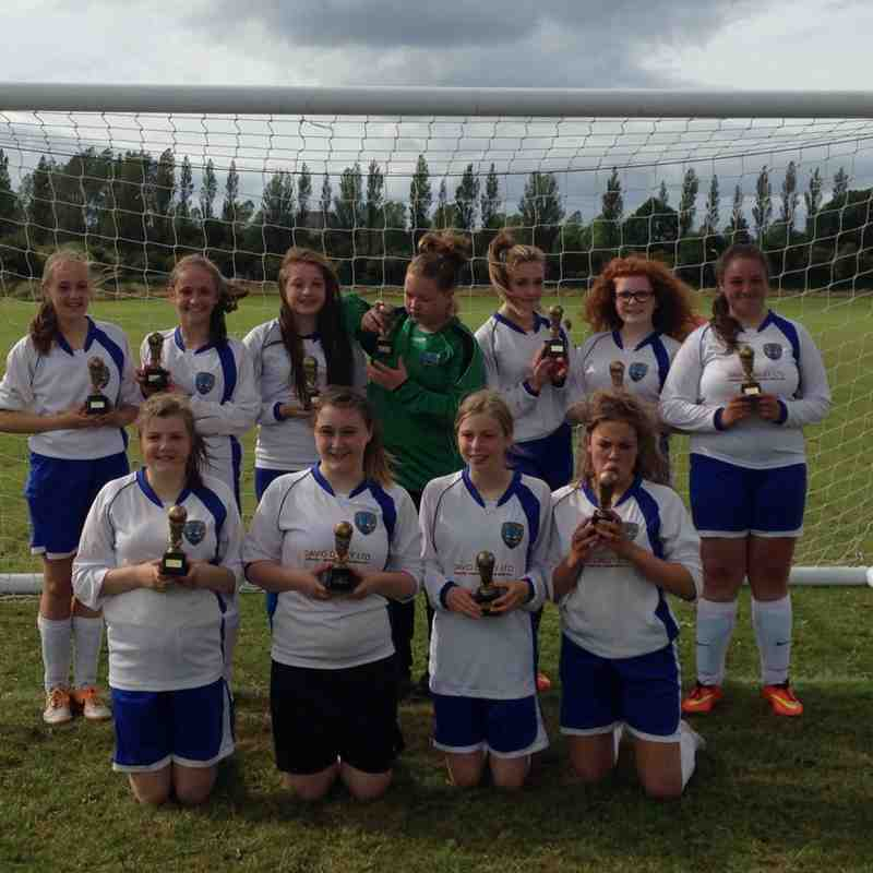 U15 Girls Plate Winners 2015