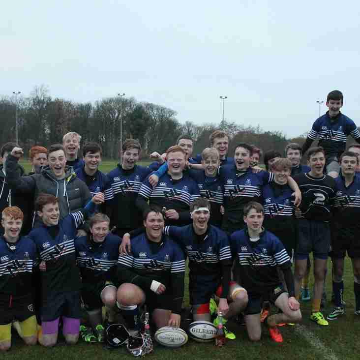 Strathaven RFC & Dalziel RFC U16's win their league