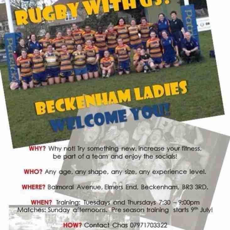 Beckenham ladies always welcomes new players!