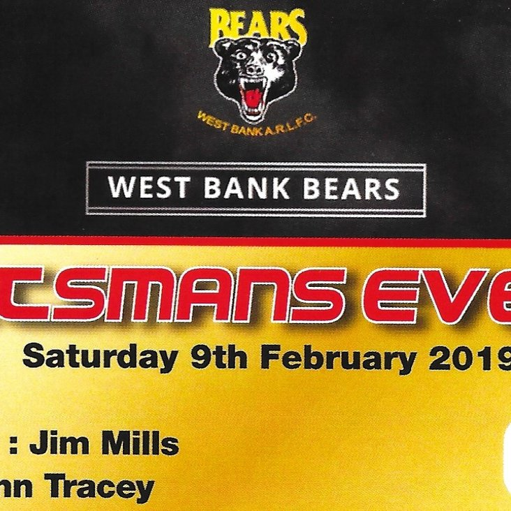West Bank ARLFC - Sportsman&#039;s evening 2019<