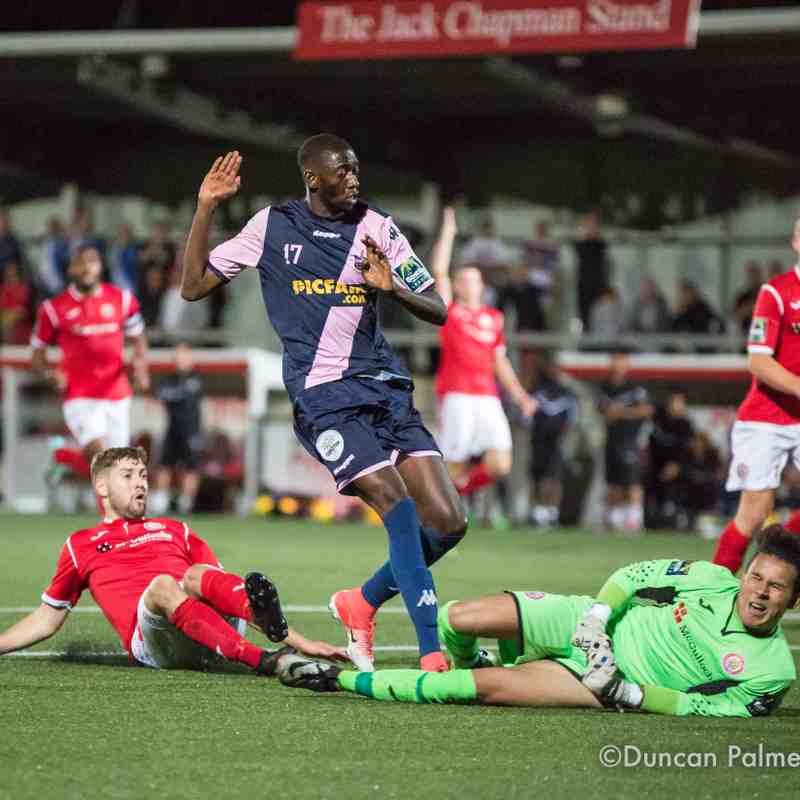 Harlow Town 2 - 3 Dulwich Hamlet, Tuesday 15th August 2017