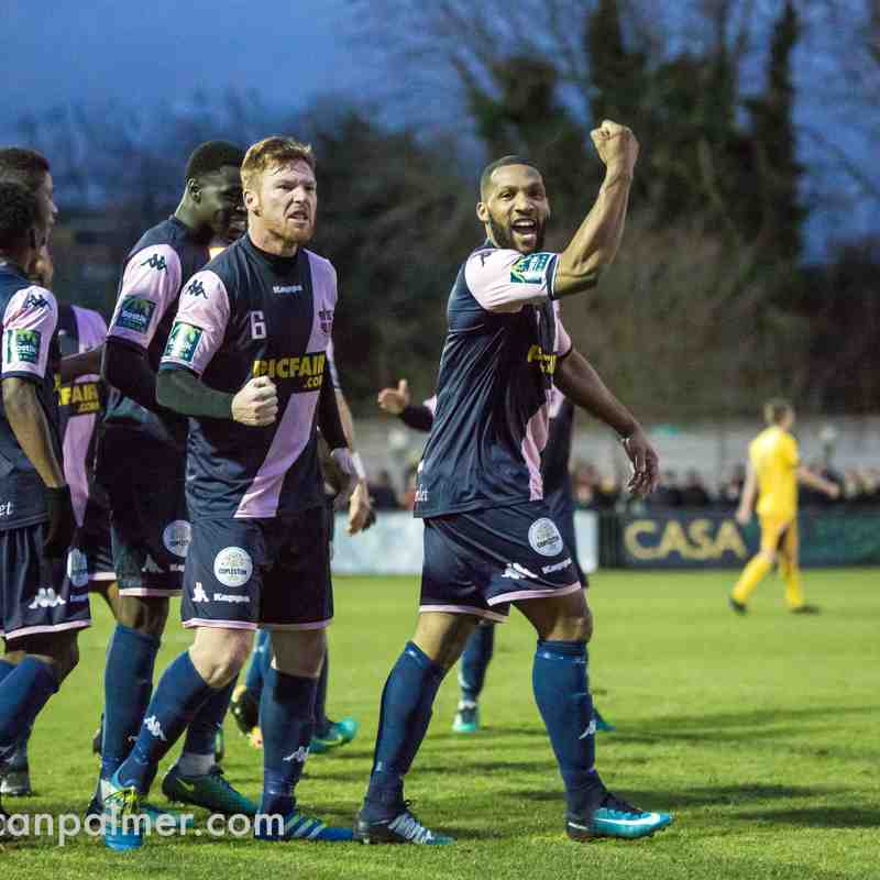 Dulwich Hamlet 4 - 3 Folkestone Invicta, 6th January 2018