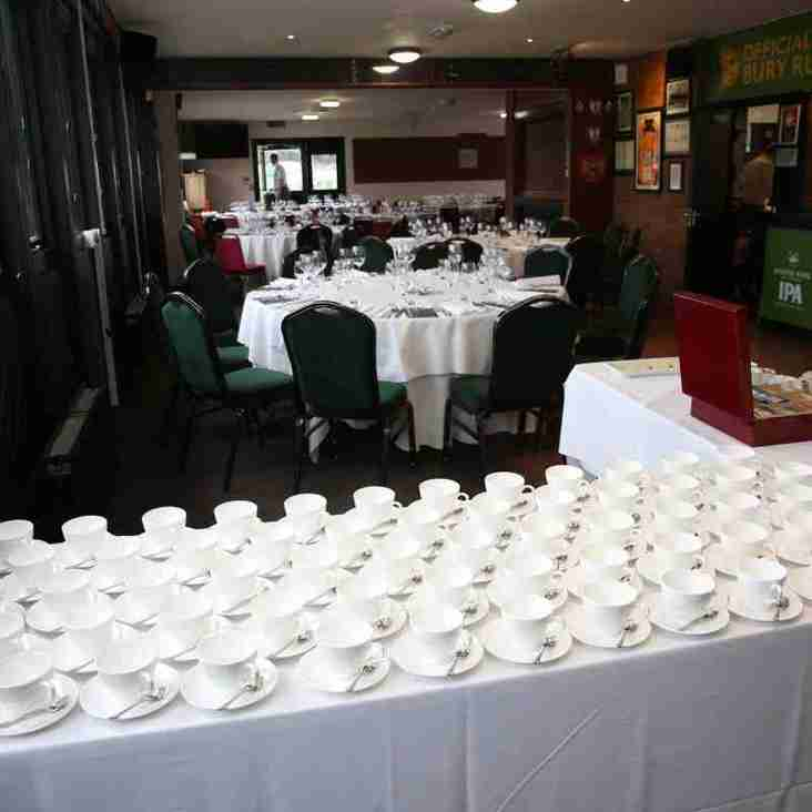 Bookings now open for Pre Match Lunches 2018-2019 Season