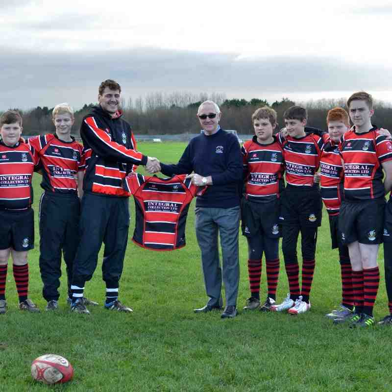 U13's at beginning of season with Steve Duck - kit sponsor