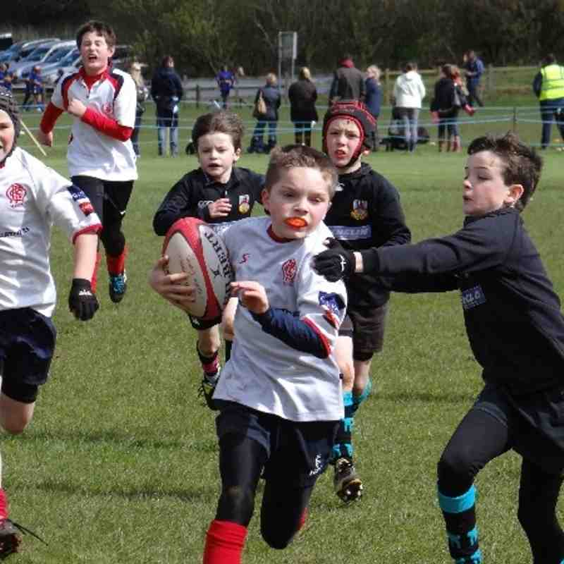P6 Red Sox in action at Ballyclare Festival 12/04/2014