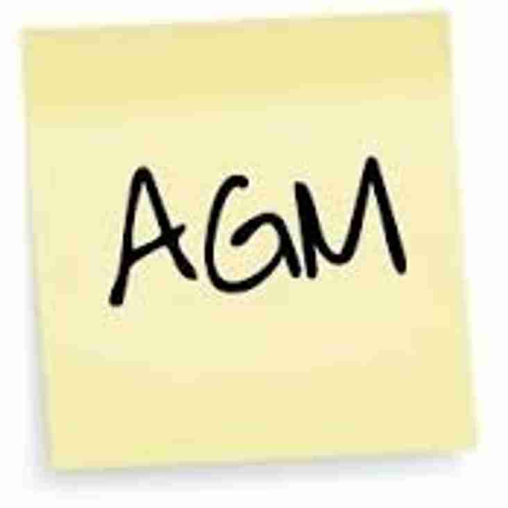 Club AGM - Tuesday 25th July at 7:30pm