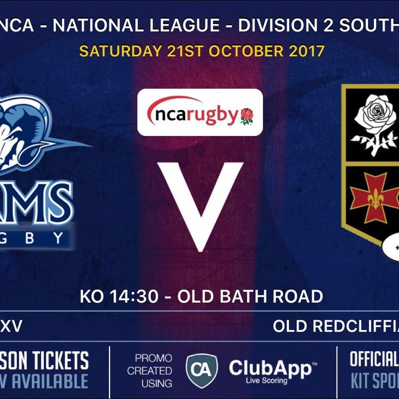 Rams teams in League Action Saturday 21st October