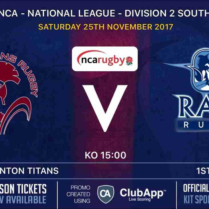 Rams teams in league action Saturday 25th November