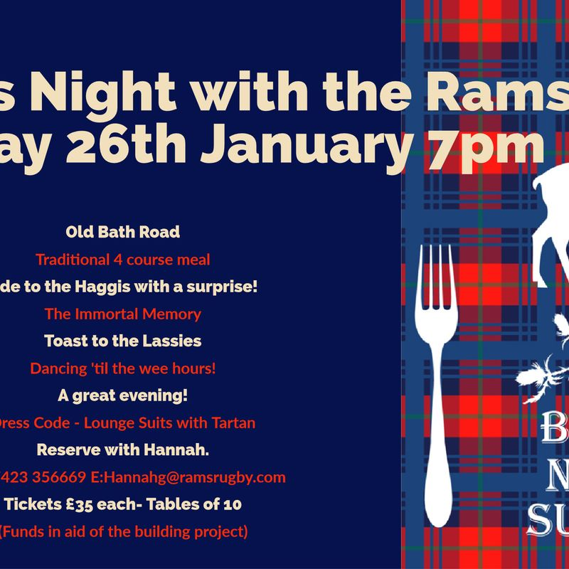 Burns Night Supper  with full entertainment and dancing!