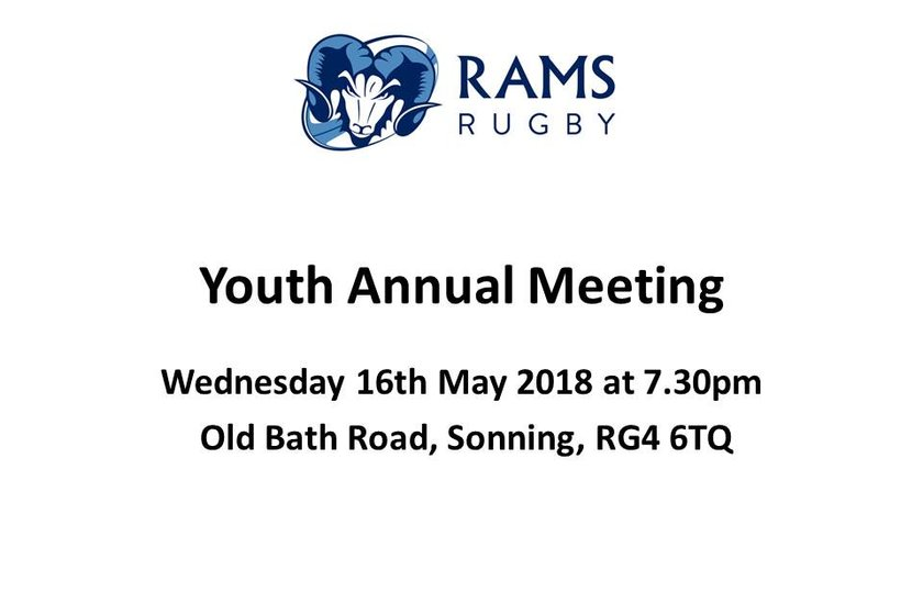 Youth Annual Meeting - Wed 16th May