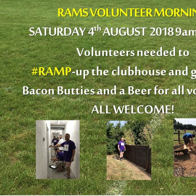RAMS Volunteer Morning - Saturday 4th August 9am -1pm