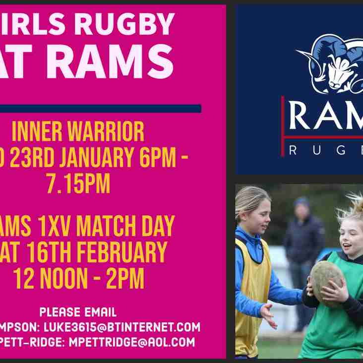 Come and play Girls rugby at RAMS in 2019!
