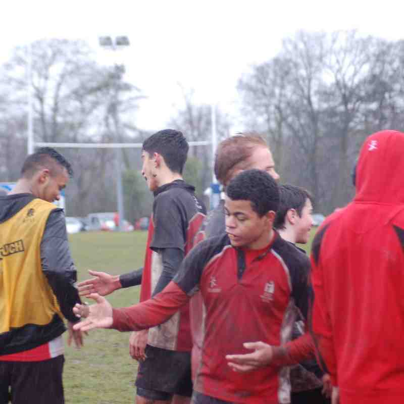 Under 15's versus Stoke (Cup Semi Final ) 8th March 2015