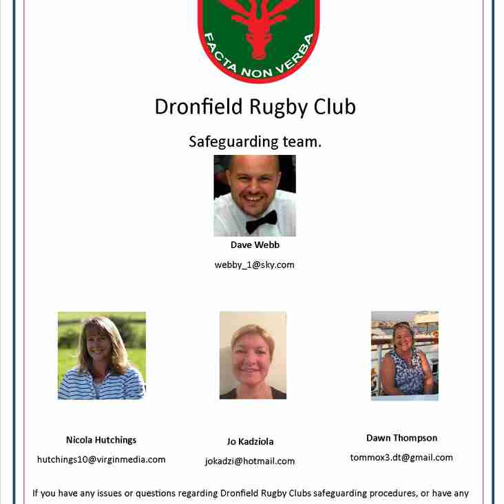 Dronfield Rugby Club Safeguarding Team.