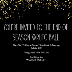SAVE THE DATE - End of Season Black Tie Ball