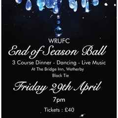 End of Season Ball - Tickets now on Sale