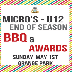 End of Season Awards & BBQ for Micros -U12
