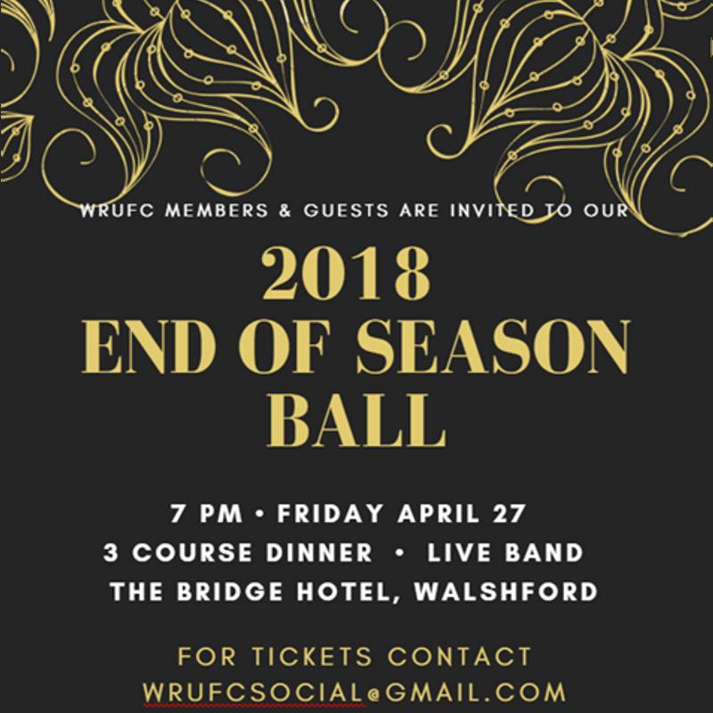 2018 End of Season Ball - April 27th