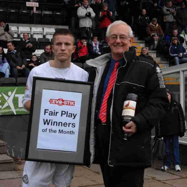 Premier Division Fair Play Winners - December
