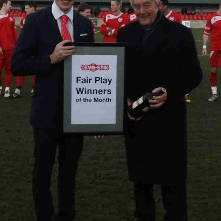 First South Fair Play Winners - January